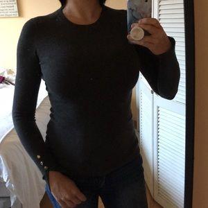 Zara Knit Crewneck Gray Size Small